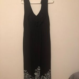 Black and white maxi dress from Soma
